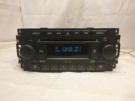 04-10 Chrysler Dodge Jeep Radio 6 Disc Cd Mp3 Player P05091175AB W25324 - $69.30