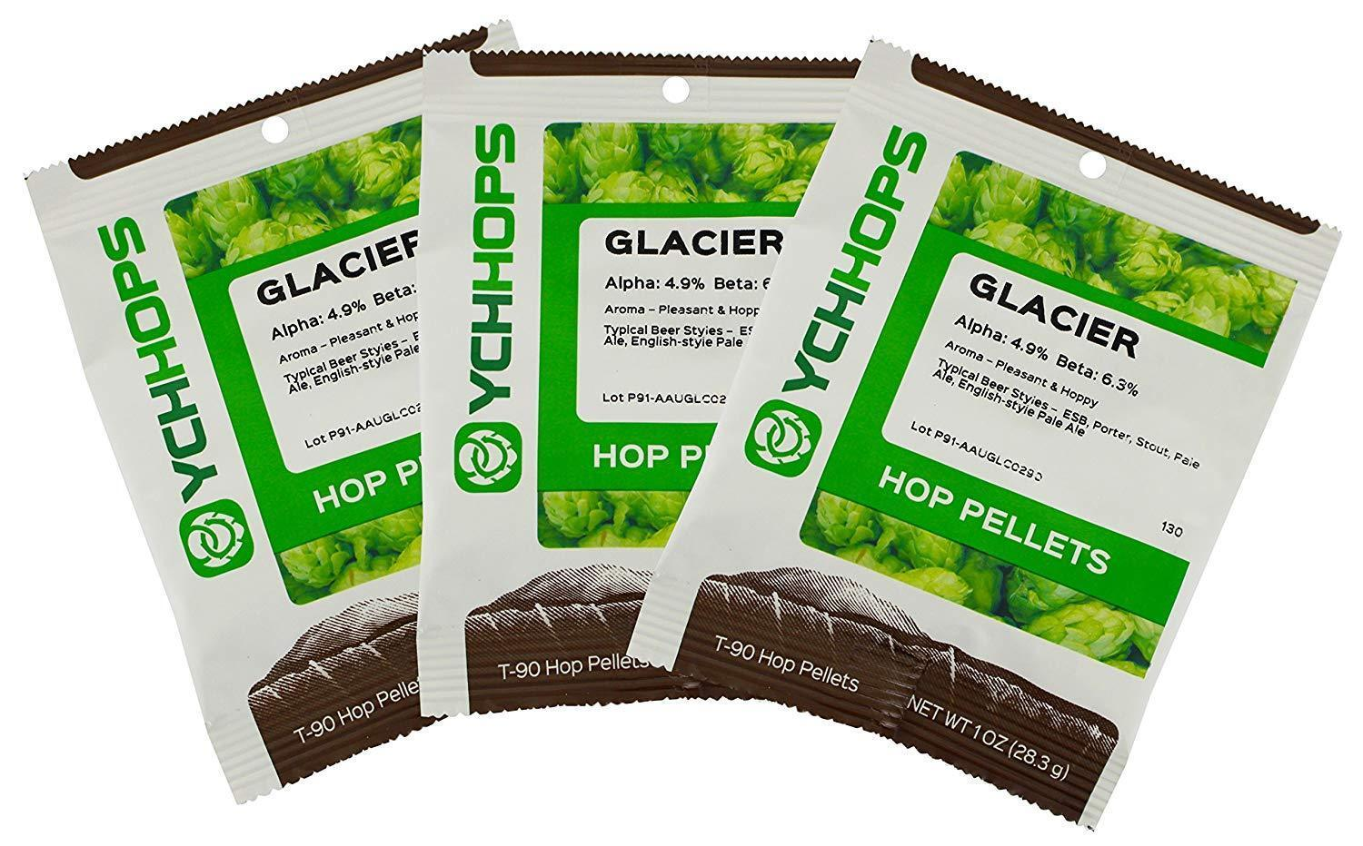 3PK GLACIER HOP PELLETS SMOOTH AND FRUITY BLACKBERRY AROMA 3oz FACTORY PA