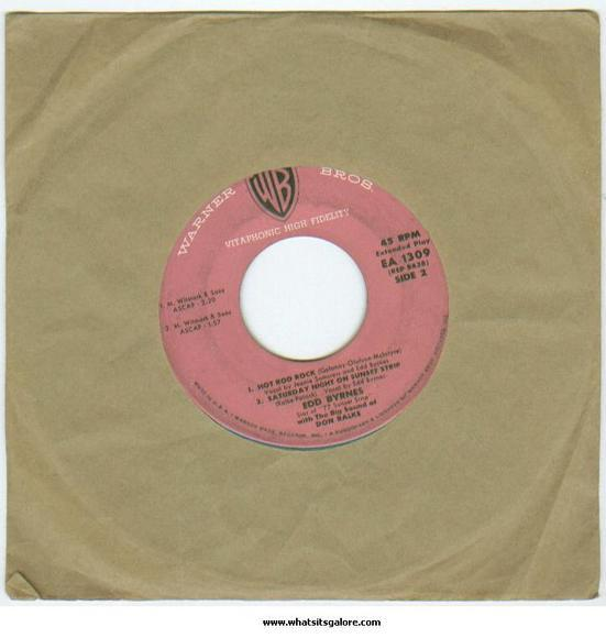 Edd Kookie Byrnes 45 rpm record single