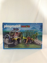 New Playmobil Dinos 5236 T Rex Vehicle Loader Building Toy Playset - $46.74