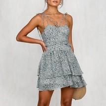 Women Dress Bodycon Floral Casual Fashion Ruffle Sphagetti Straps Sexy New 1 Pcs - $22.99