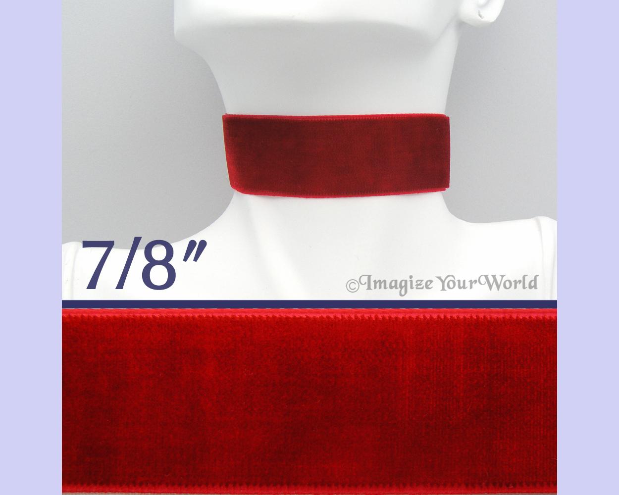 J rc velvet 22mm red  gallery