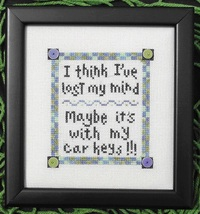 Lost It MBT027 cross stitch chart My Big Toe Designs - $8.00