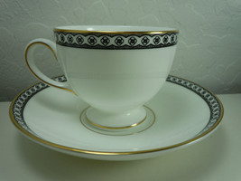 Wedgwood Ulander Black Cup and Saucer Set - $18.50