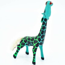 Handmade Alebrijes Oaxacan Copal Wood Carved Painted Folk Art Giraffe Figurine image 1