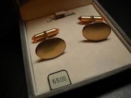 Krementz Cuff Links 14 Kt Gold Amber Knobs in Krementz Original Presentation Box - $29.99