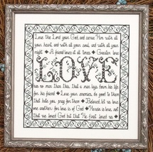 Building Blocks Love MBT028 cross stitch chart My Big Toe Designs - $8.00