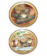 Sitting Pretty Cat Kitty Kitten Collector Plate Bradford Exchange Karen ... - $55.36