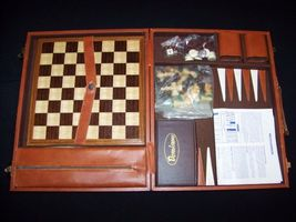 Backgammon Chess Cribbage Dominos vintage 100% ... - $49.99