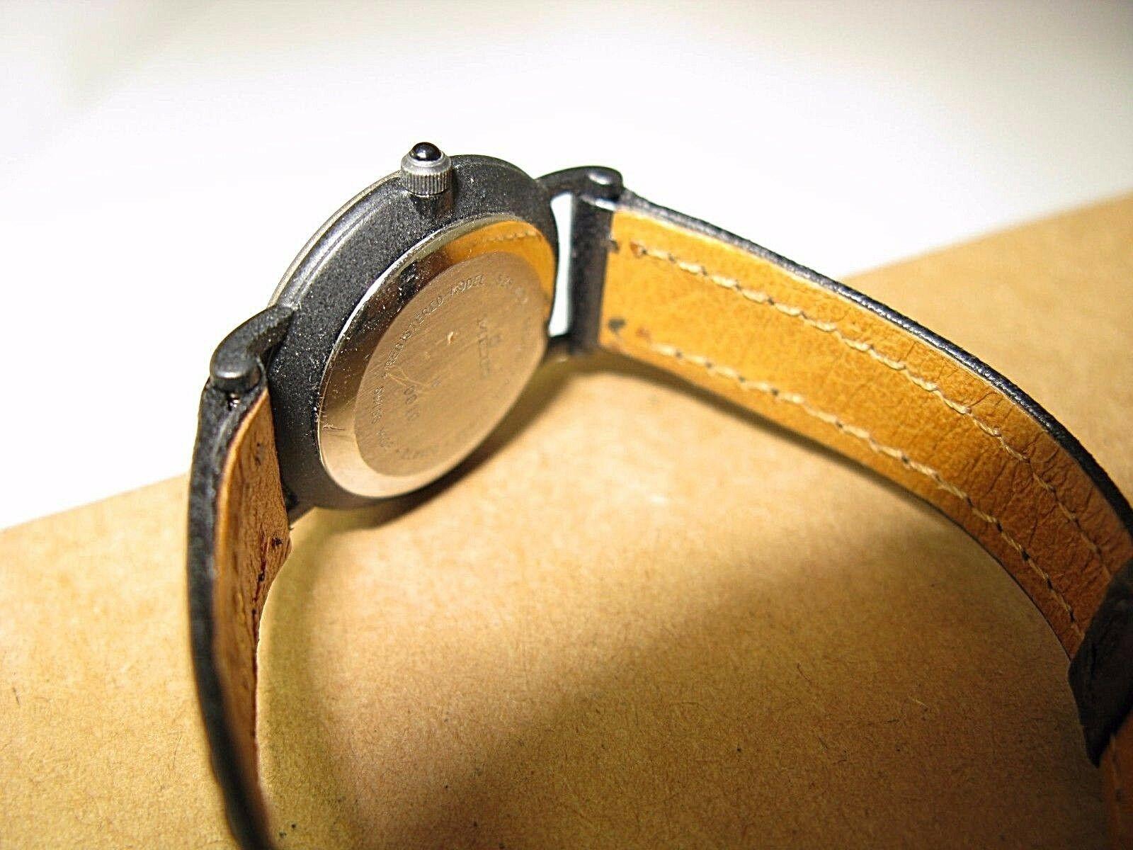 Lexon Swiss made modern vintage women quartz watch black