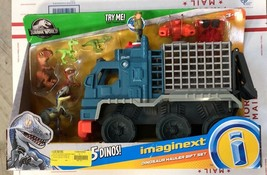 Fisher-Price IMAGINEXT Jurassic World Dinosaur Hauler Gift Set FREE SHIP... - $60.05