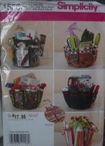 Sewing Pattern 1556 Drawstring Organizer W/Removable Pouch Uncut - $5.99
