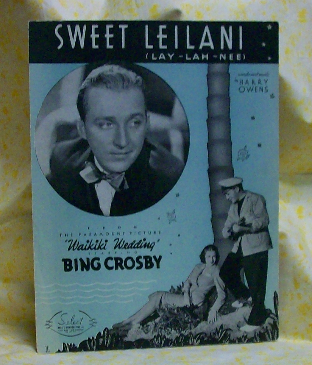 Sweet :Leilani Sheet Music Bing Crosby
