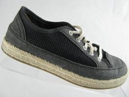 Clarks Collection Azella Prosper Women 6.5 Espadrille Sneaker Mesh Black Comfort - $24.70