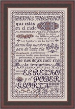 Padre Nuestro MBT031 cross stitch chart My Big Toe Designs - $18.00