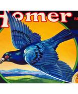 Smart Pigeon! Homer Crate Label, 1940's  - $4.89