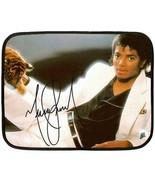 "NEW Michael Jackson Autograph Fleece Blanket 27""X35"" (Mini)- - $24.00"