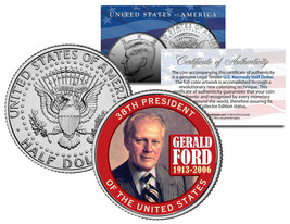 GERALD FORD *38th President* 1913-2006 JFK Kennedy Half Dollar Colorized... - $8.86
