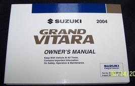 2004 Suzuki Grand Vitara Owners Manual  new original - $29.69