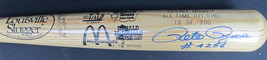 Pete Rose Signed Louisville Slugger All Time Hit King 4256 McDonald's #7... - $349.99