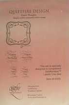 Quietfire Designs Gentle Thoughts with Frame Unmounted Rubber Stamp Set