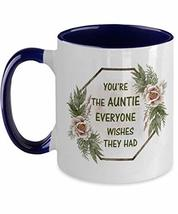 Meaningful Auntie Christmas Mug from Niece Two Tone Ceramic Coffee Mug f... - $19.75