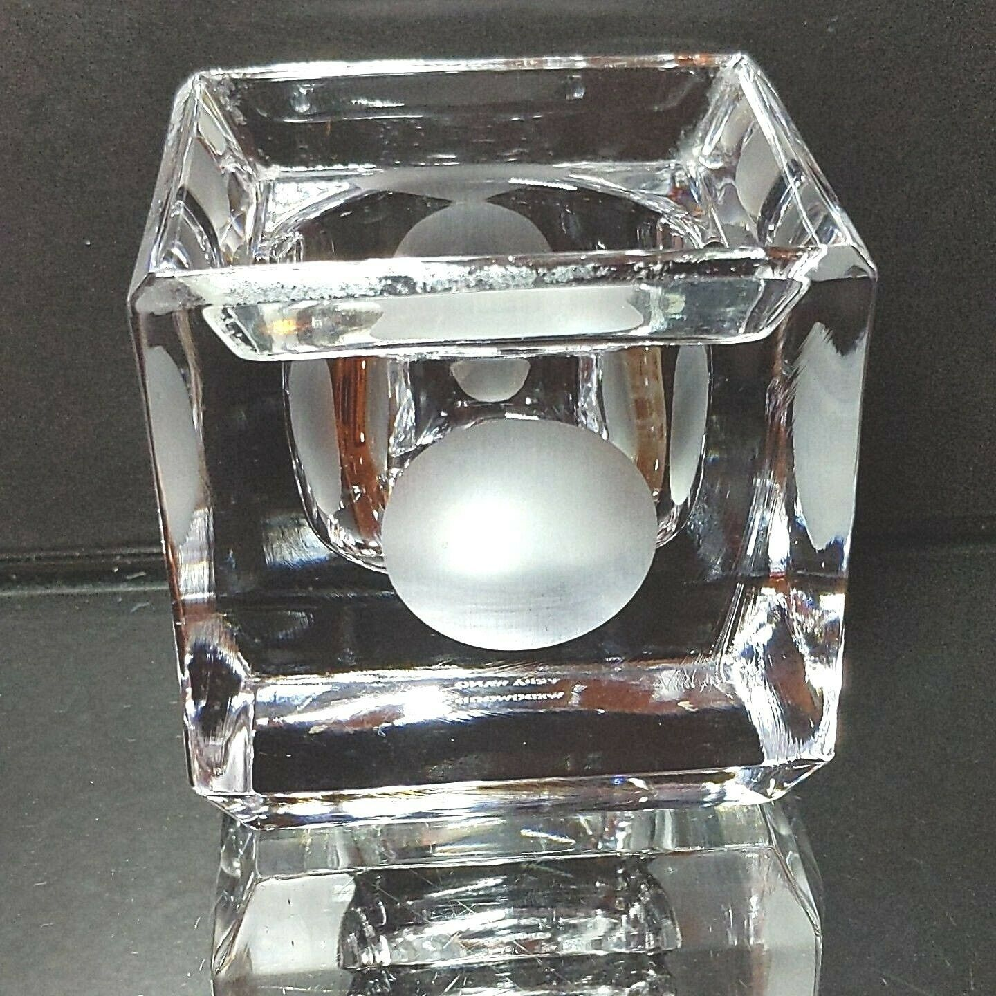 1 (One) VERA WANG WEDGWOOD Modern Graphic Votive w Dot DISCONTINUED - Signed