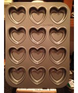 Cake Boss Specialty Bakeware Heart Molded Cookie Pan Makes 12 Hearts Bra... - $22.99