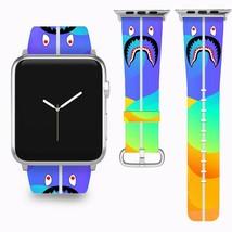 Bape Shark Apple Watch Band 38 40 42 44 mm Series 1 - 5 Fabric Leather Strap 4 - $29.97