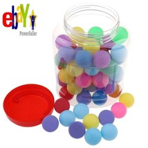 Buytra 60 Pack Colored Beer Ping Pong Balls 40Mm With Storage Holder, Pl... - $20.74 CAD
