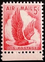 1958 5c Eagle in Flight, Air Mail Scott C50 Mint F/VF NH - $0.99