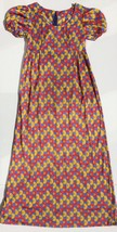vintage 1970s Short Sleeve Maxi Dress Women's Small Primary Colors Hippi... - $20.70