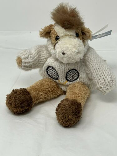 Primary image for Unipak Fluffies Plush Horse Pony Stuffed Animal in Lacrosse Tennis Sweater 8""