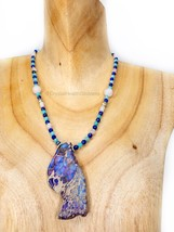 Ocean Vibes Crystal Healing Necklace 925 Sterling Silver Design #2 - $94.00