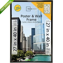 Mainstays 27x40 Black Poster Picture Large Frame Home Wall Decor Collage... - $34.15