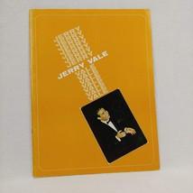 Jerry Vale Pop  Music Souvenir Booklet  Program - $16.82