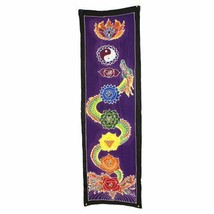 PAGAN/SPIRITUAL MIDNIGHT BATIK Drop Banner/wall hanging.183x35cm - $45.05
