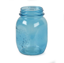Glass Mason Jar Blue 16 Ounces 3.15 X 3.15 X 5.51 Inches - $14.25