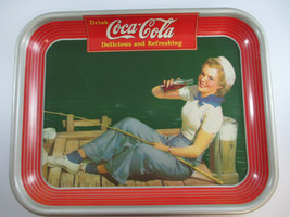 Coca-Cola 1940 Sailor Girl Tin Tray Original Authentic - $49.50