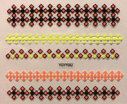 BANG STORE Nail Art 3D Decal Stickers Neon Orange Yellow & Black Pattern  - $2.11
