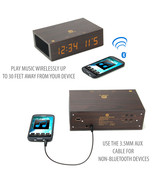 Bluetooth Digital Alarm Clock Speaker by GOgroove - (Dark Stain with NFC) - $39.99
