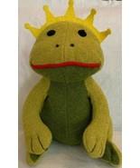 """Pottery Barn Kids Plush Green Frog Prince Stuffed Amphibian PBK 12"""" Mint... - $24.75"""