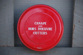 Old Vintage Set of 12 Canape & Hors D-Oeuvre Cutters Tool Metal Tin Japan - $9.89