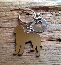 NEW Labradoodle Goldendoodle Custom Keychain. Chocolate Doodle.  Personalized.   - $18.00