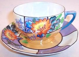 Vintage Trico Hand Painted Lusterware Cup & Saucer Nagoya Japan, Rare! - $19.99