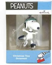Snoopy Christmas Figurine Peanuts Decoration Ornament Hallmark Ice Skating - $14.99