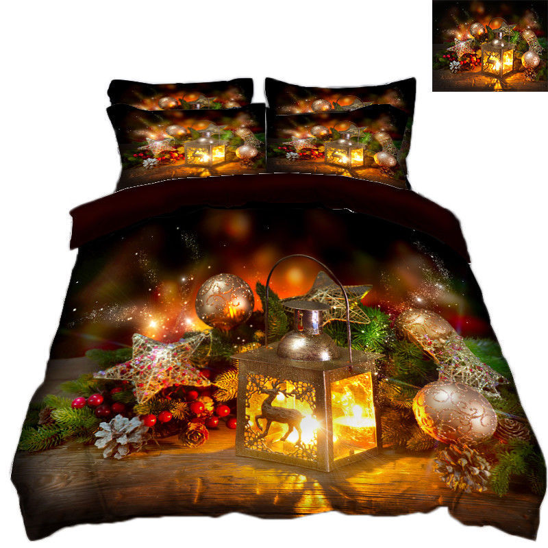 3D Christmas  Xmas 2114 Bed Pillowcases Quilt Duvet Cover Set Single Queen King - $90.04 - $122.20