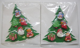 Christmas Novelty Button Cover Avon 12 Tree Stocking Present Snowman San... - $24.74