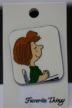Favorite Things Peanuts Enamel Pin ~ Peppermint Patty at Desk - $8.59