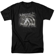 I Survived the Twilight Zone t-shirt retro Sci-Fi TV series graphic tee CBS168  image 1